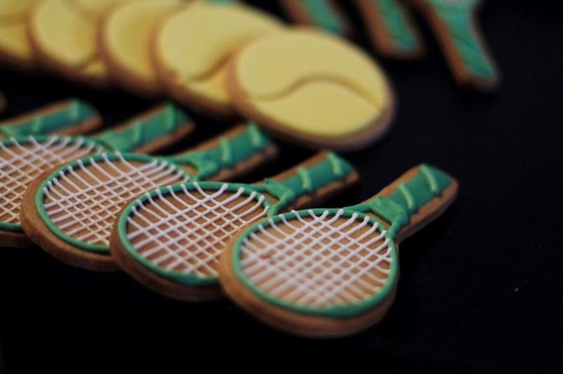 gateaux raquette de tennis