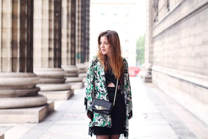 kimono frangé