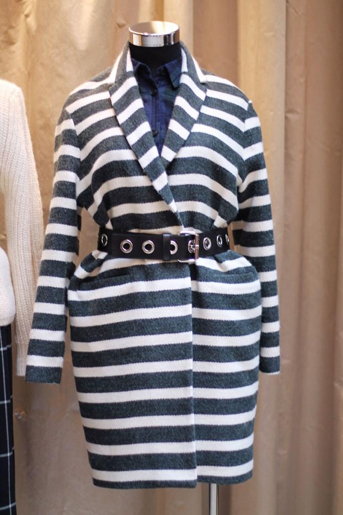 manteau rayé