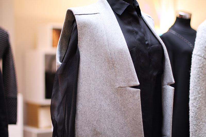 veste sans manches grise