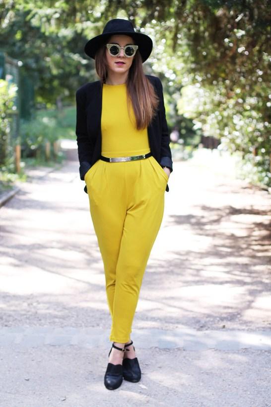 combinaison jaune