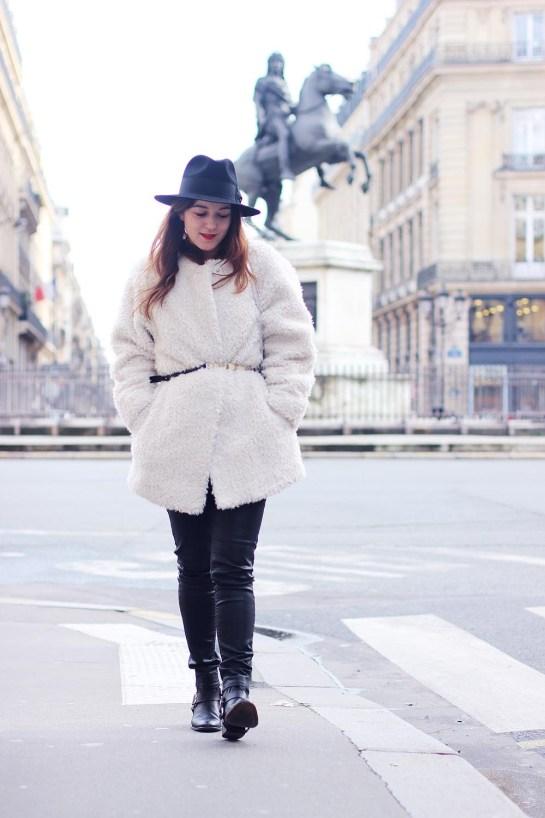 manteau blanc comptoir des cotonniers