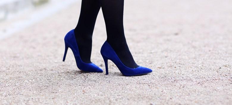 escarpins bleus