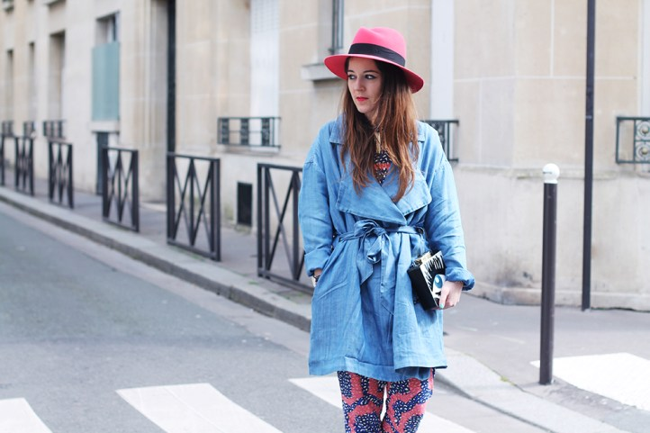 trench denim