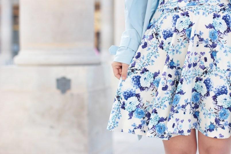 detail robe bleue