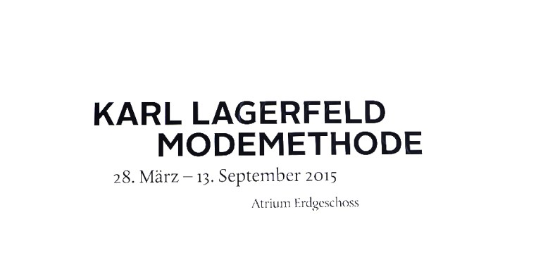 Karl lagerfeld modemethode