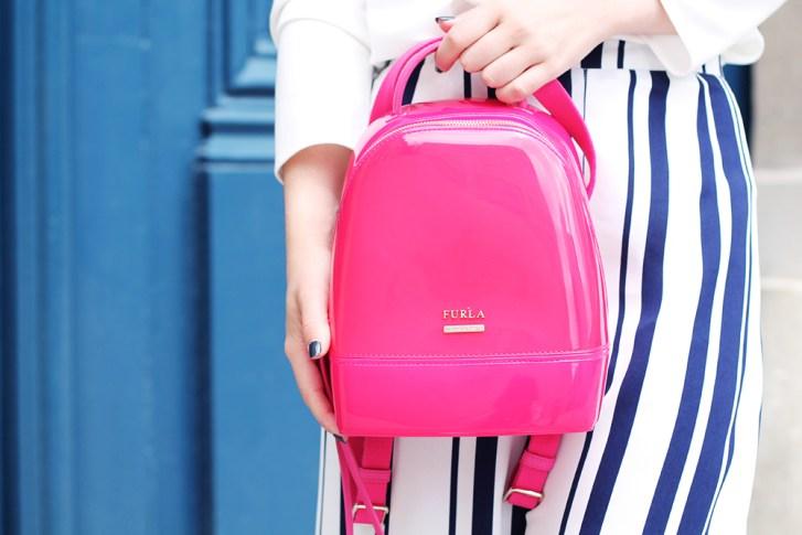 pink furla backpack