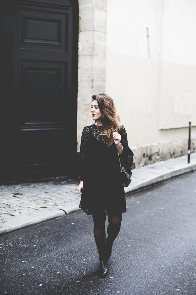 robe-dentelle noire