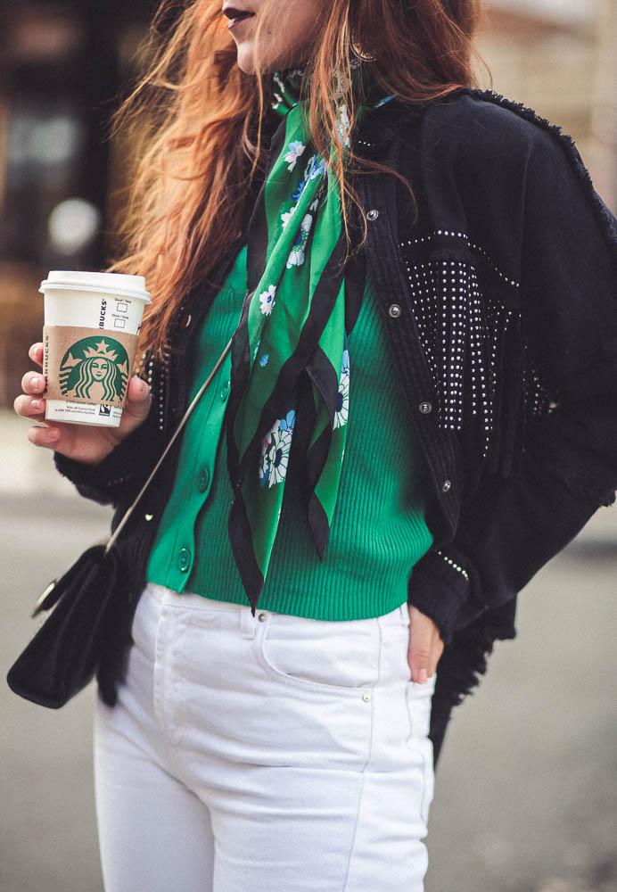 foulard green