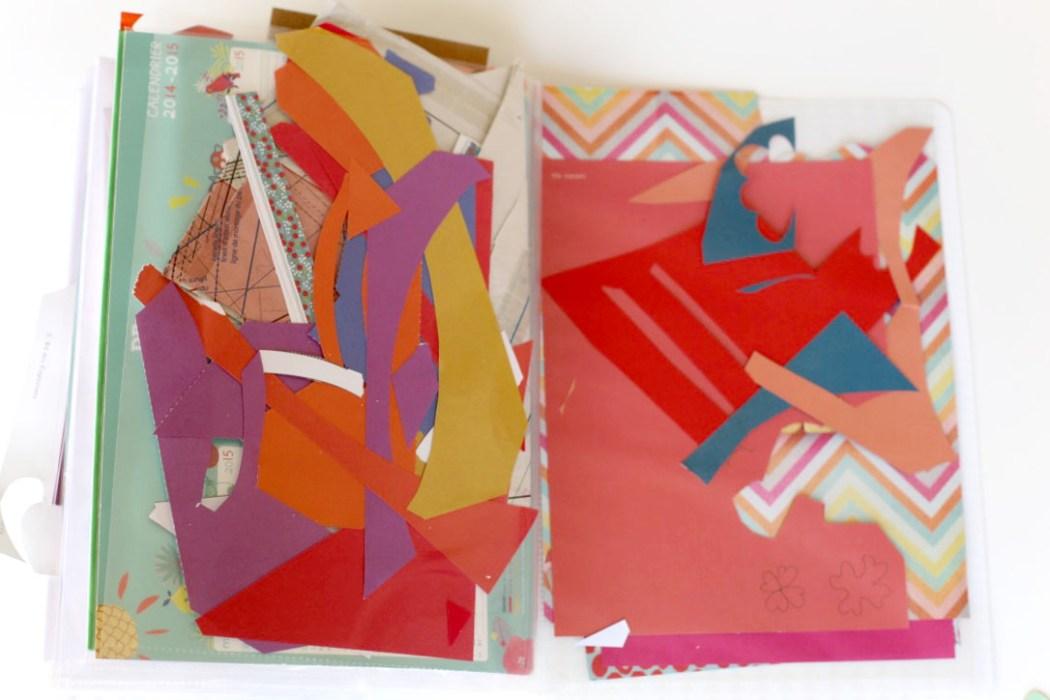 160411 cahier a collages4 Sur le fil : entre collage et cartes postales (SHYT)