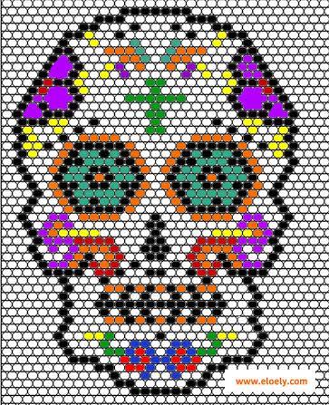 160428 diagramme tete de mort Un Mexican Skull Patch pour le Hellfest