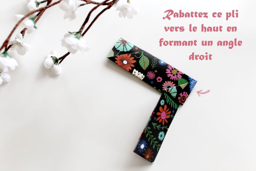 160613 origami hashi bukuro etape 5 Fabriquer son étui à baguettes avec Madame Mo (Origami)
