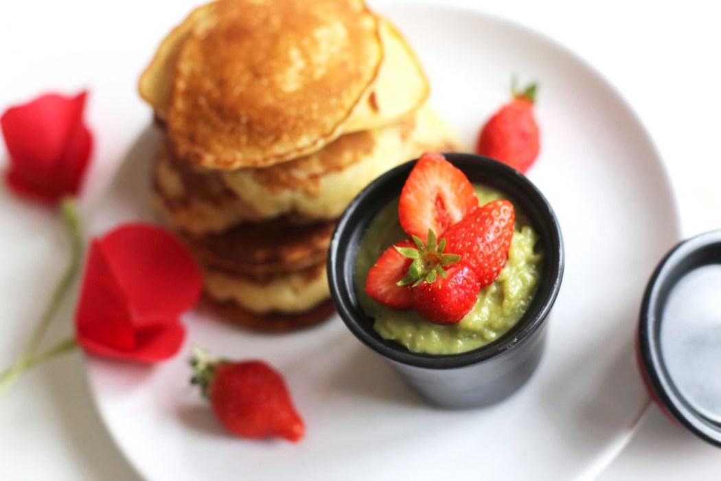 160614 dorayaki macha fraise Dorayaki à la crème de thé vert Macha et aux fraises
