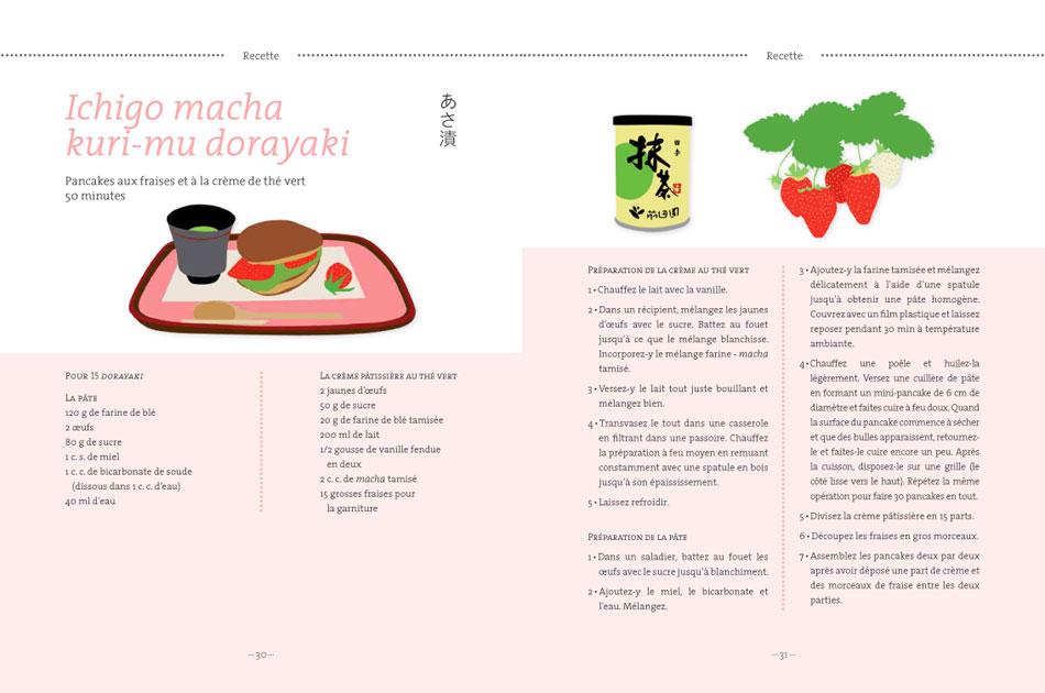 160615 ichigo macha kuri mu dorayaki Dorayaki à la crème de thé vert Macha et aux fraises