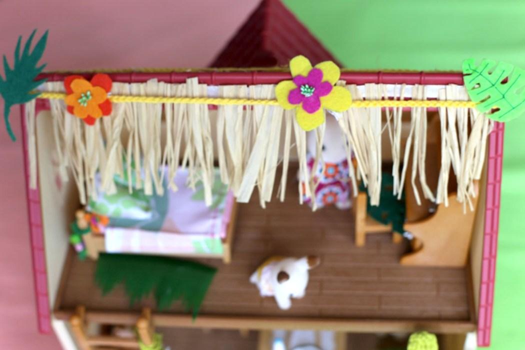 160806 sylvanian aloha toit Bons baisers dAloha... signé la famille Lapin Chocolat (DIY)