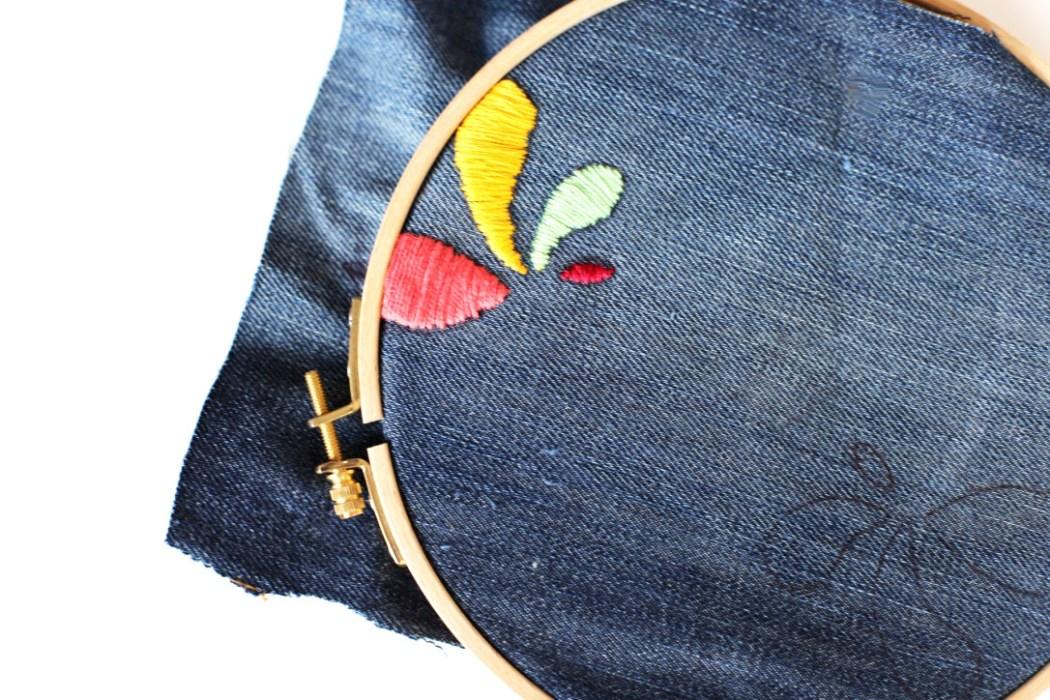 160905 broderie couture jeans diy recup Ma pochette brodée pour faire durer lété (spécial récup)