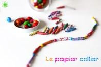 Un collier en papier tout coloré