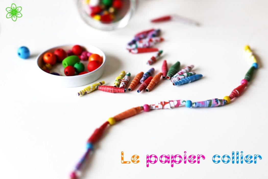 170202 collier en papier diy Un collier en papier tout coloré