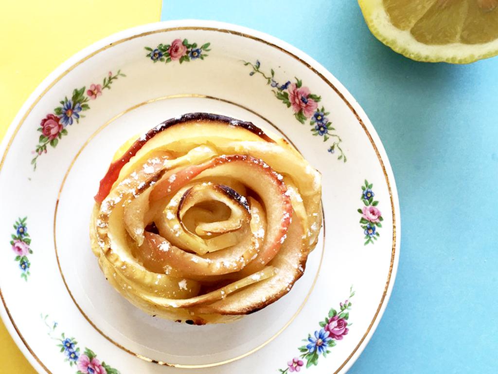 170419 rose tarte lemon curd2 Citron + Pomme + Mercredi = Des roses tartes au Lemon Curd !