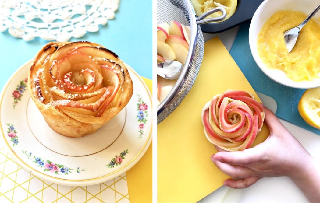 170420 rose tarte copie Citron + Pomme + Mercredi = Des roses tartes au Lemon Curd !