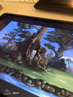 Procés d'il·lustració iPad