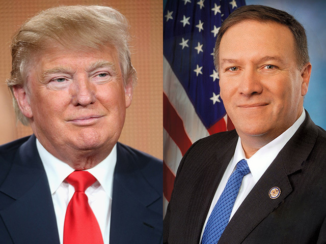 Image result for mike pompeo and trump