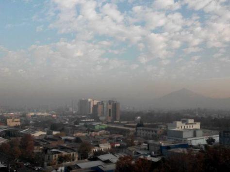 Hoy el smog está brígido...
