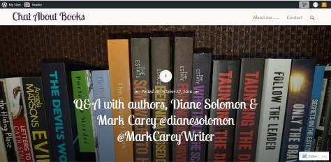 Diane Solomon Chat About Books interview