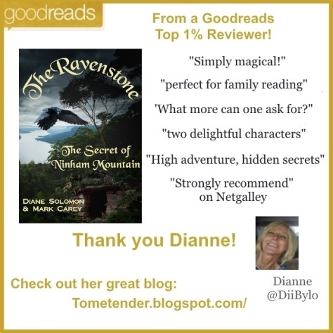 Diane Solomon author, review of The Ravenstone on Goodreads