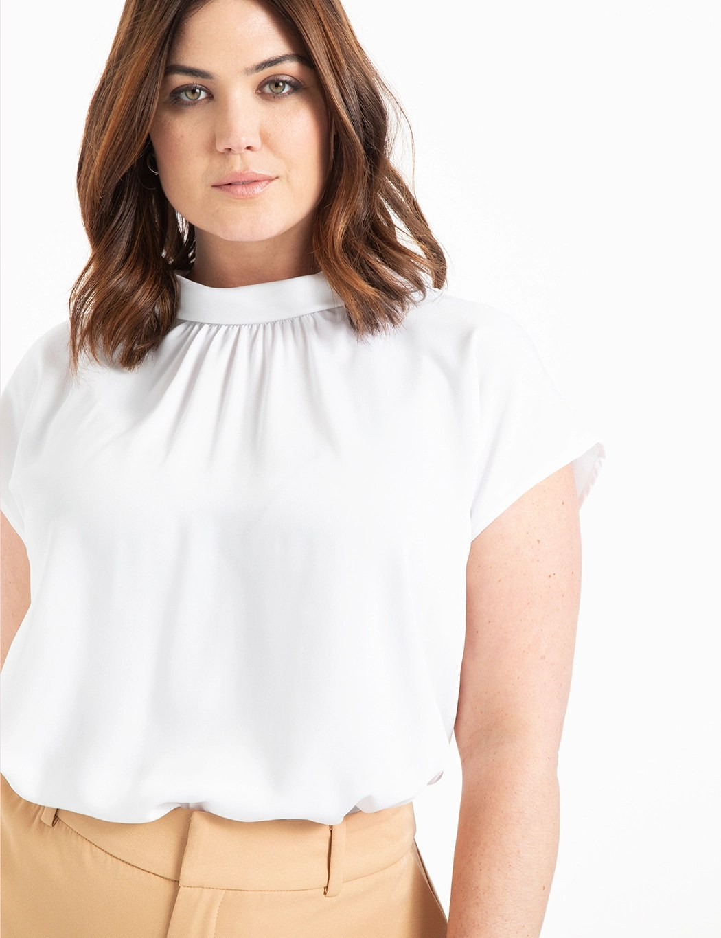 Pleated Neckline Top 7