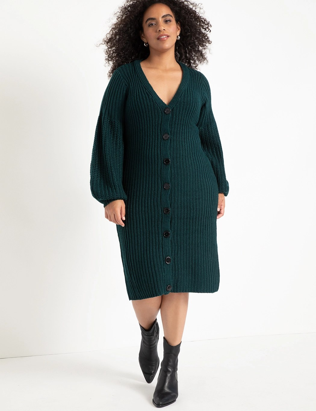 Cardigan Sweater Dress 13
