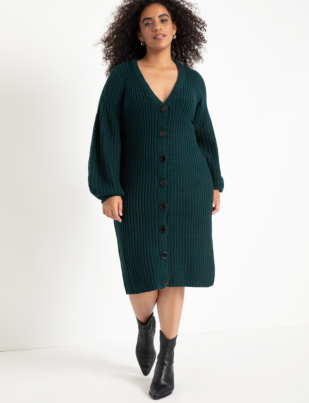 Cardigan Sweater Dress 12