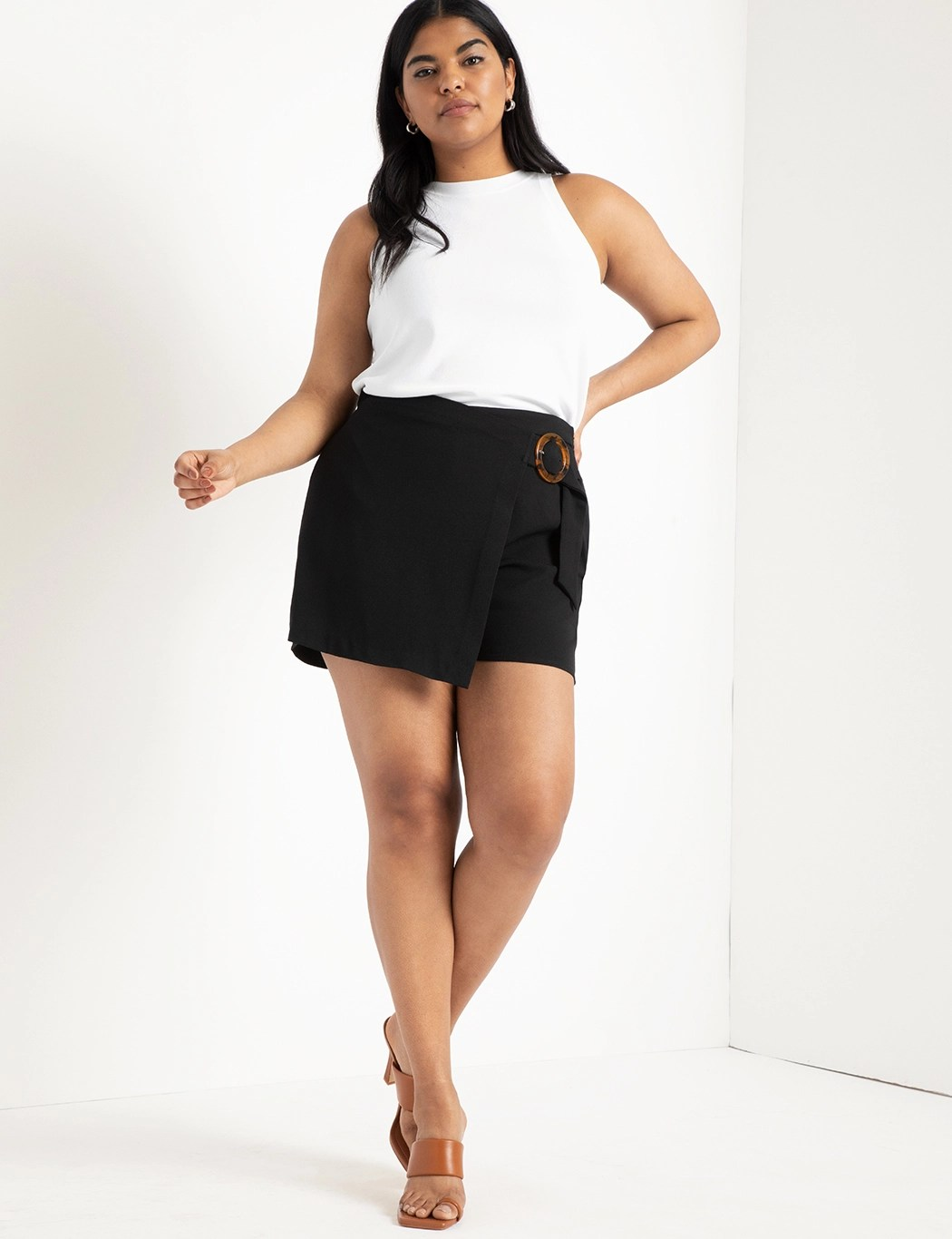 Wrap Front Skort with Buckle 4