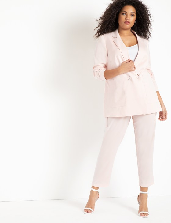 Satin Pant with Patch Pockets 1