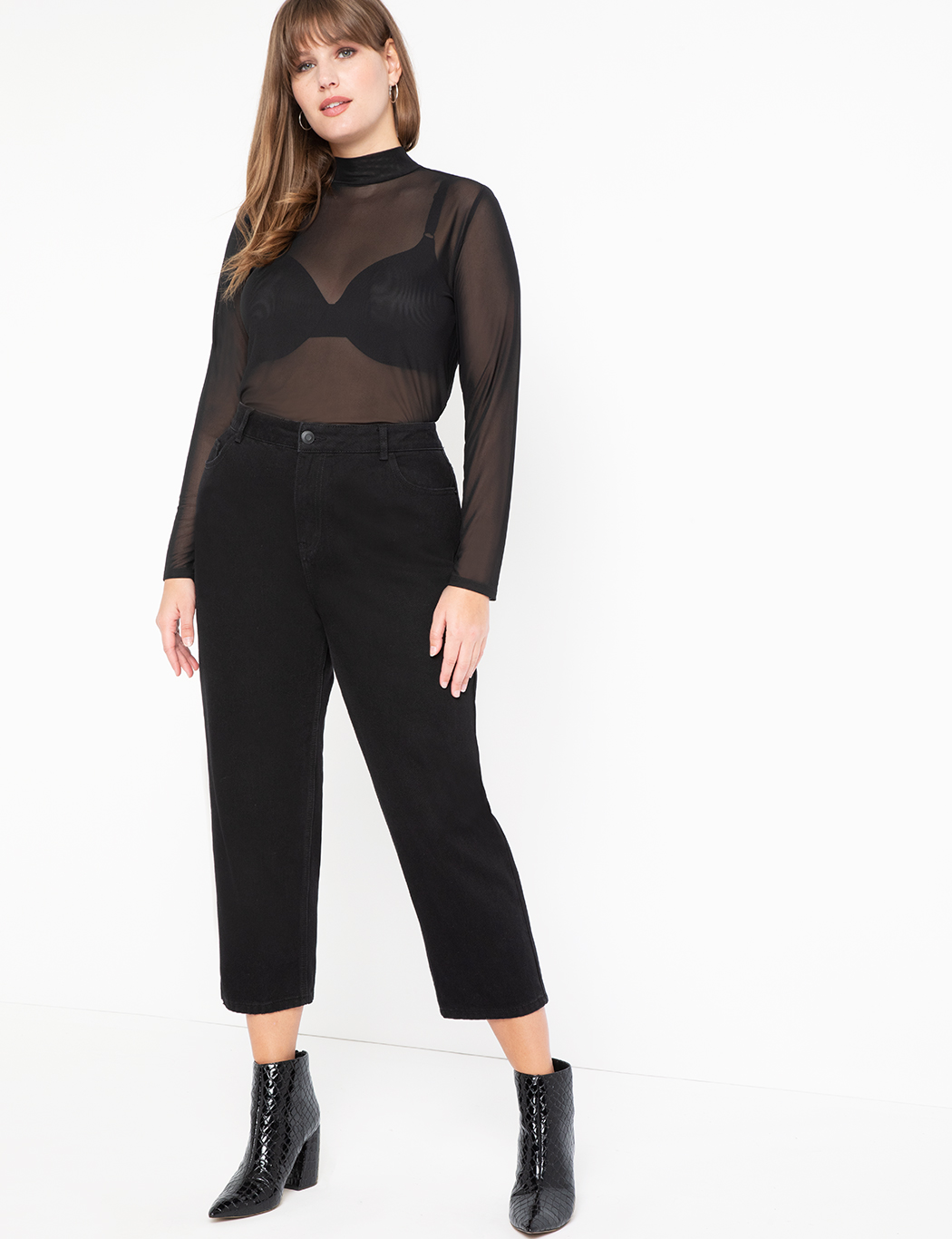 Mock Neck Mesh Top 13