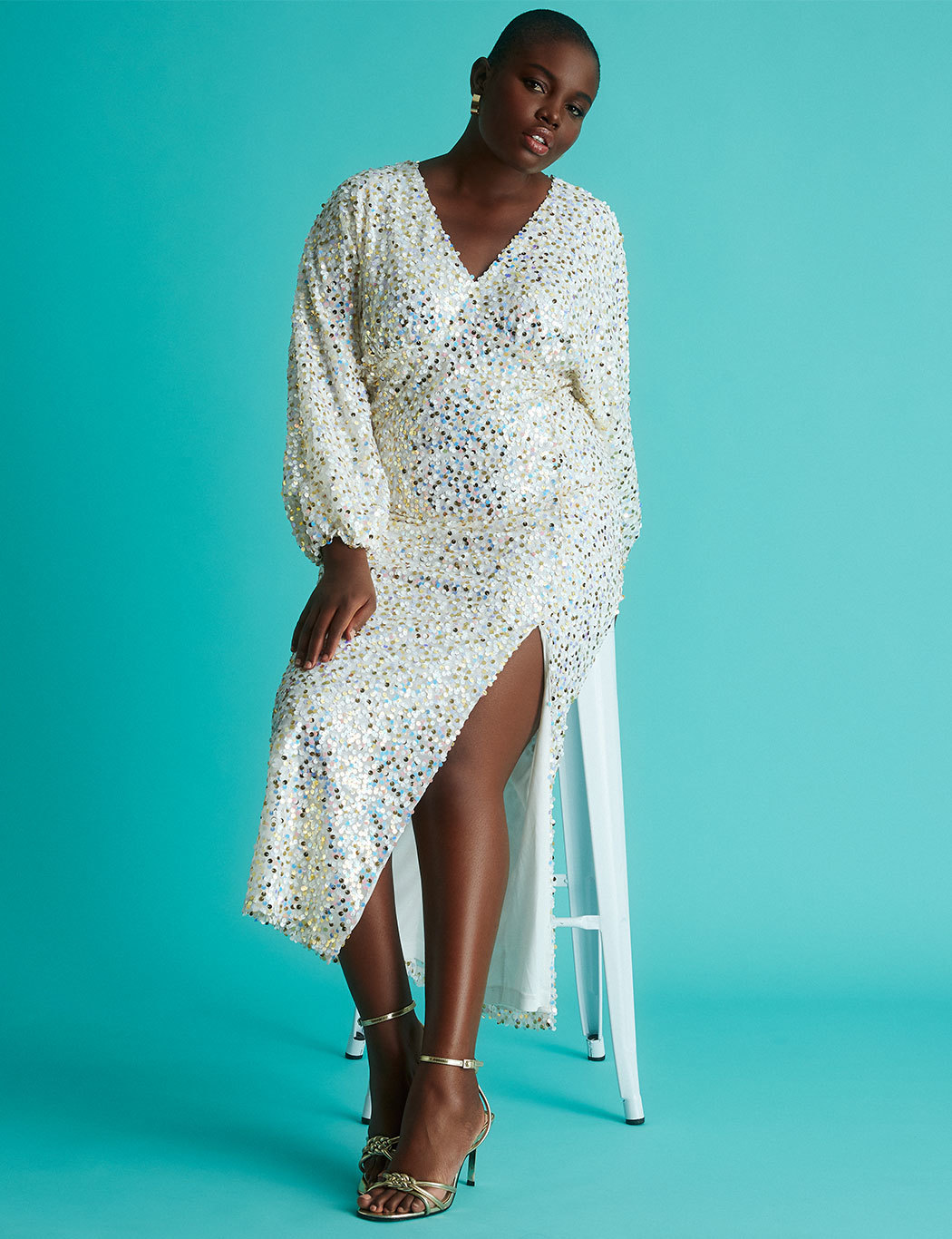 Sequin gown with Full Sleeve 2