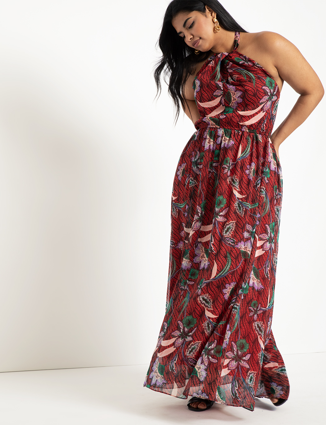 Halter Neck Maxi Dress 3
