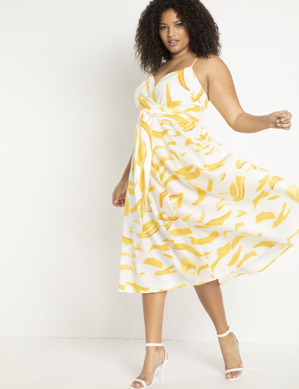 Linen Fit and Flare Dress