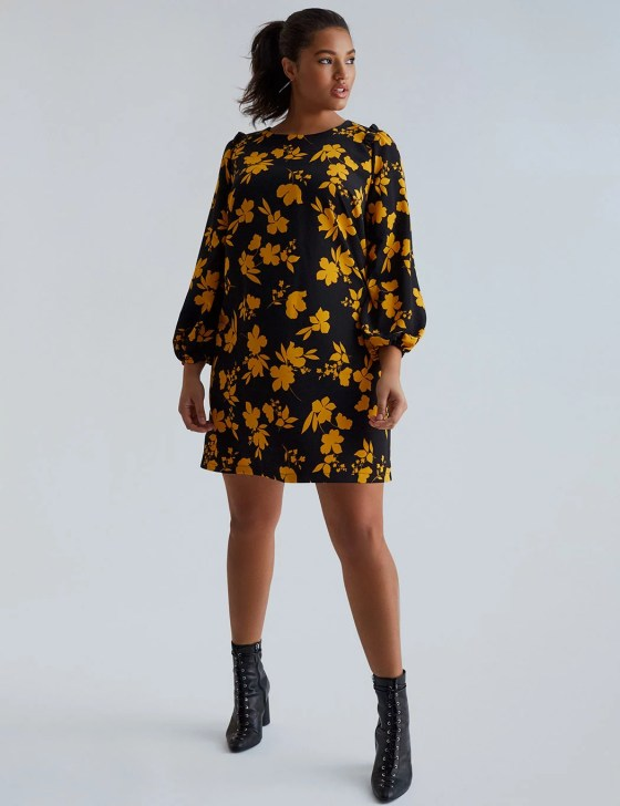 Printed Puff Sleeve Dress 3