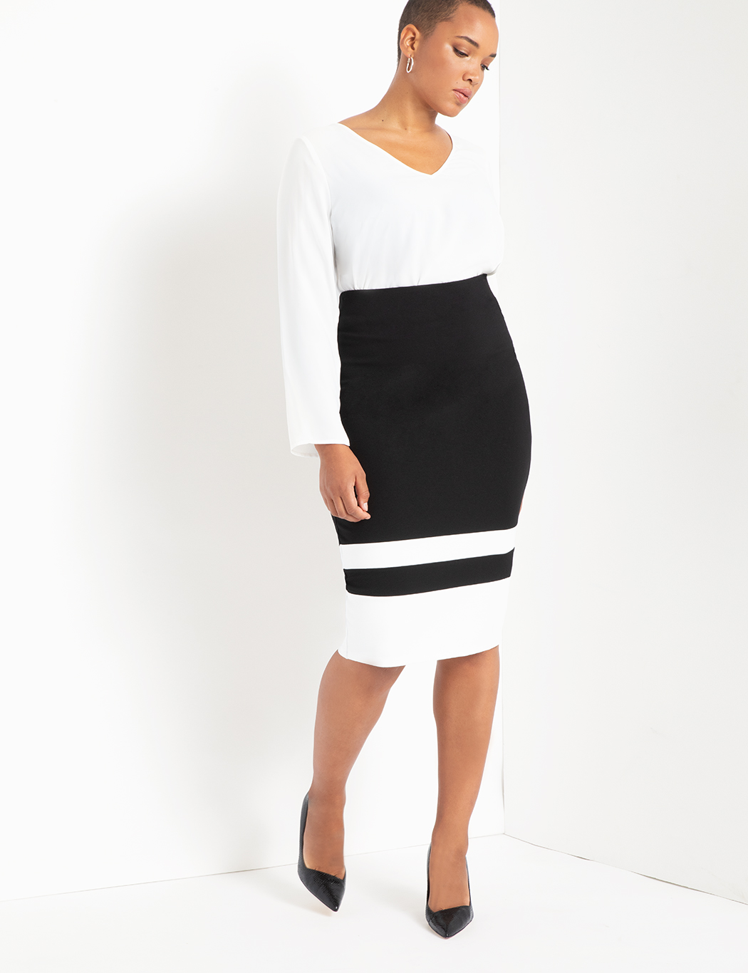 Colorblock Column Skirt 9
