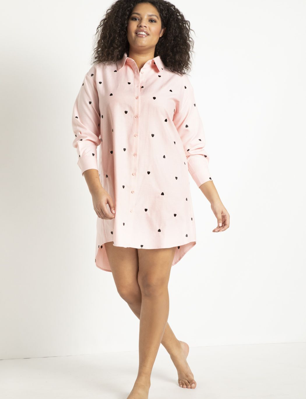 Oversized Shirtdress with Embroidery