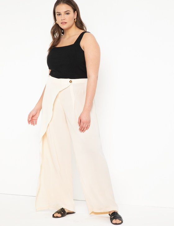 Wide Leg Pant with Overlay 8