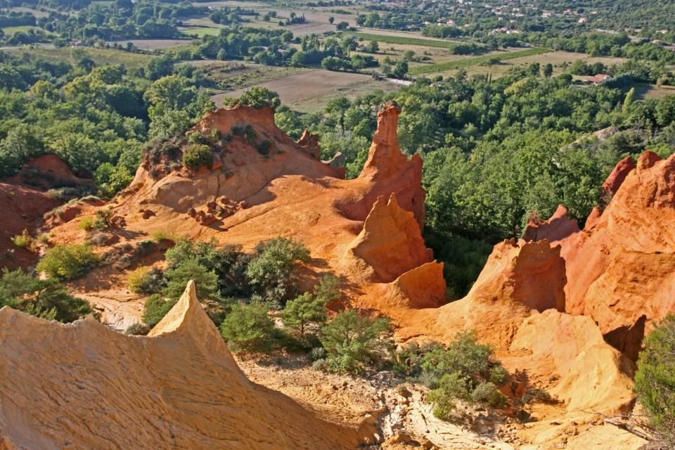 Vue aérienne Colorado provençal France