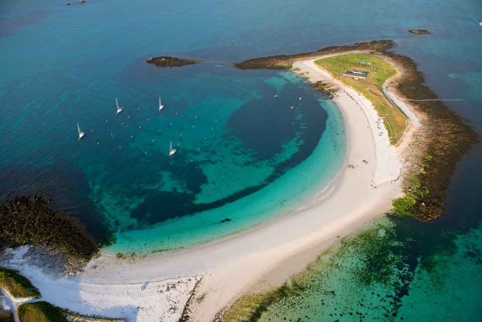 vue aérienne Iles de Glénan