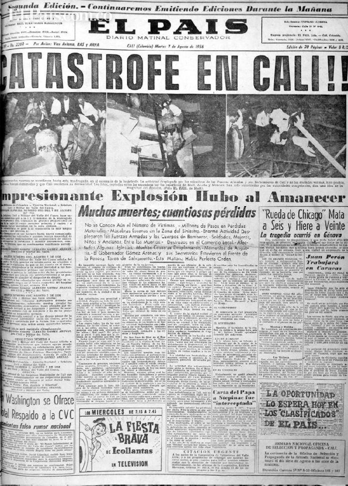 Resultado de imagen para Fotos de la Explosión de Cali - 1954