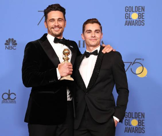 James Franco, en la ceremonia de los Globos de oro 2018