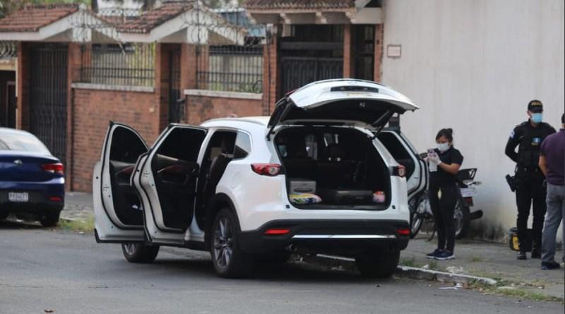 vehículo en el que se conducía la familia de Walter Gómez antes de desaparecer