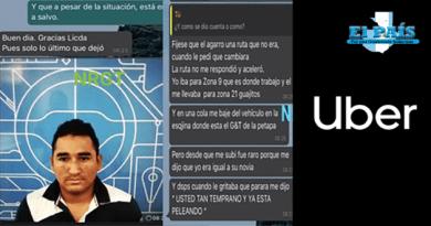 Piloto de Uber que intento secuestrar a su pasajera.