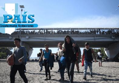 Migrantes rumbo a estados Unidos de Norte América.