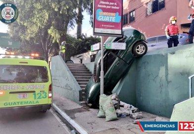 insólito accidente de transito ocurrido en zona 13